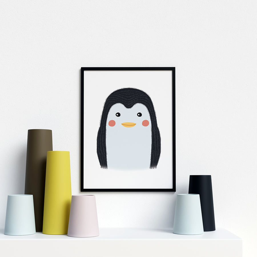 Penguin woodland animal nursery prints
