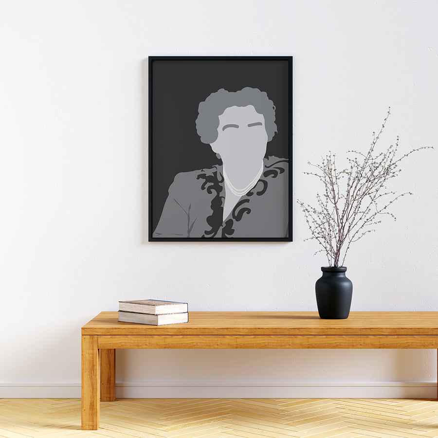 Eleanor Roosevelt Feminist Icon Print