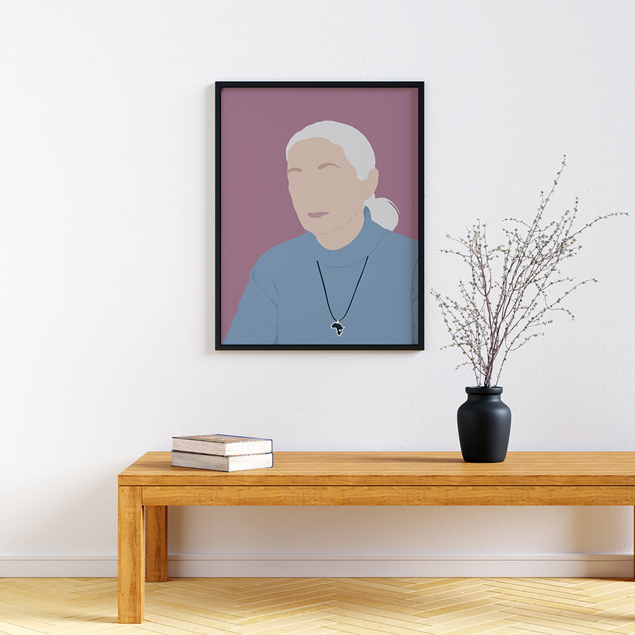 Jane Goodall Feminist Icon Print