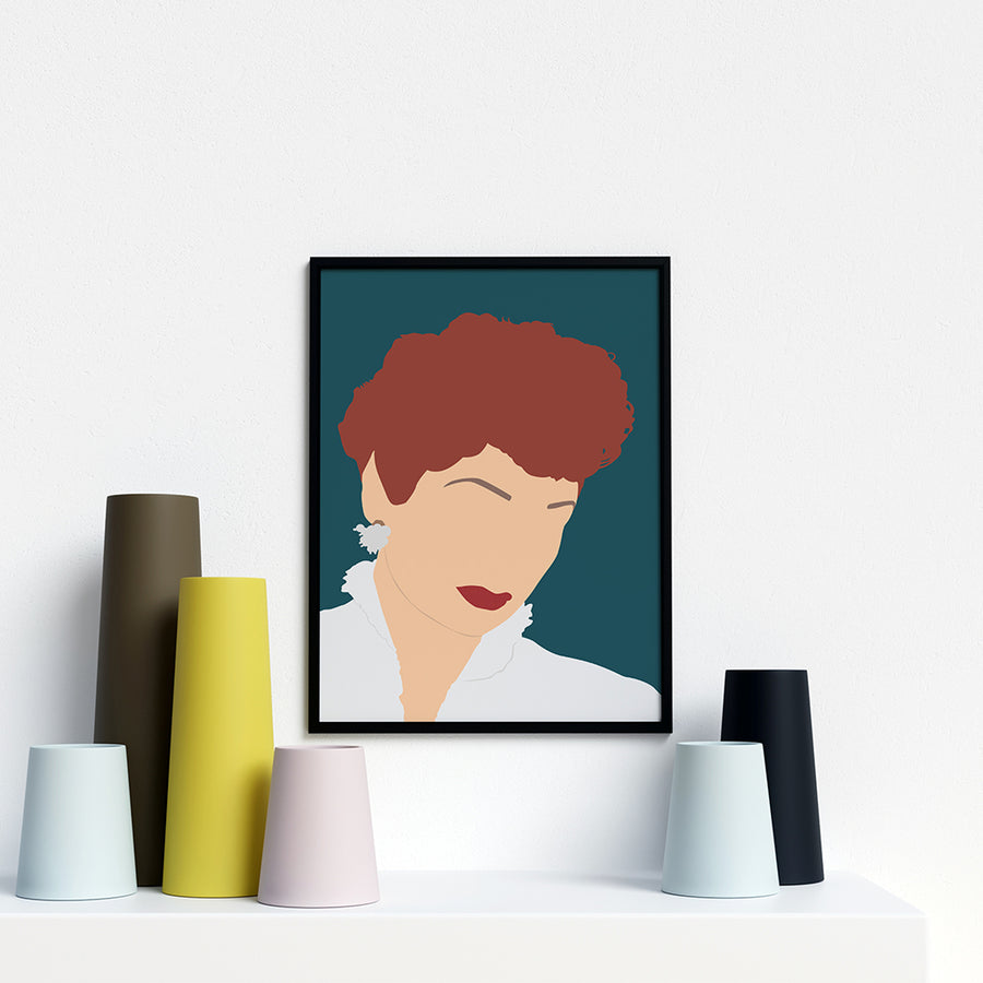 Lucille Ball Portrait Poster