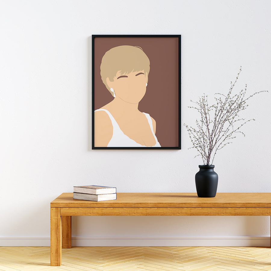 Princess Diana Feminist Icon Print