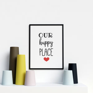 Our Happy Place Modern Stylish Artwork