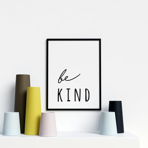 Be Kind Modern Stylish Artwork