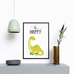 Be Happy Dinosaur - Printers Mews
