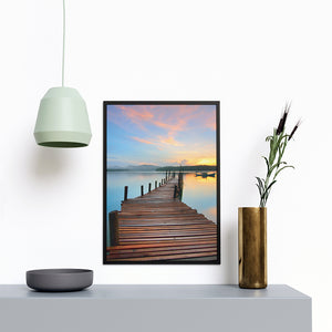 Pier Sunset At The Beach - Printers Mews