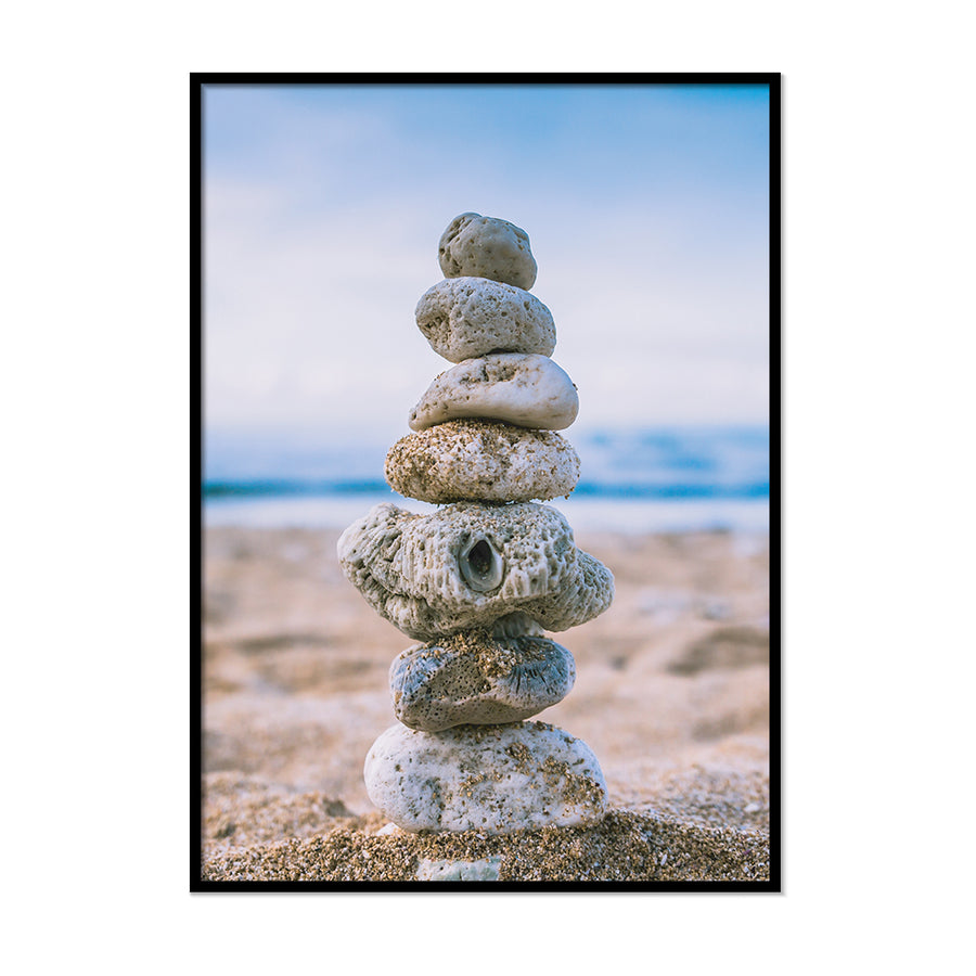 Stack Stones On The Beach - Printers Mews