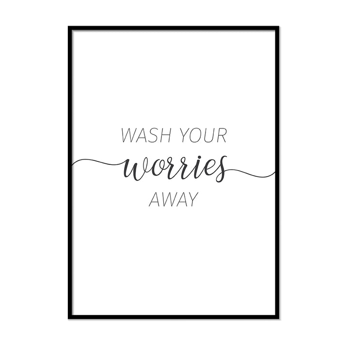 Wash Your Worries Away 2 Vintage Bathroom Canvas Art Poster