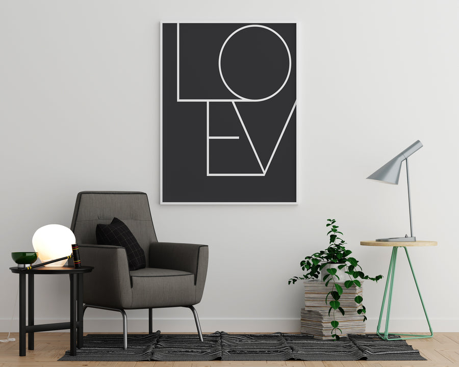 Love Joined Black - Printers Mews