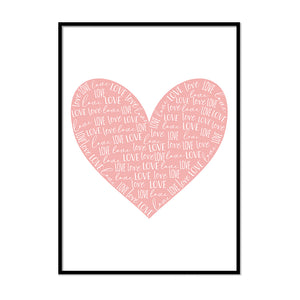 Love Heart Pink - Printers Mews