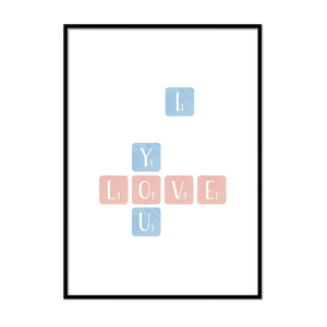 I Love You Scrabble - Printers Mews
