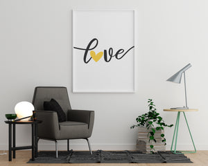 Love Yellow Heart - Printers Mews