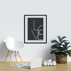 Love Love Wall Art Modern Stylish Artwork