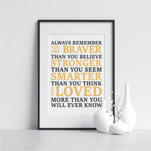 You Are Braver Than You Believe - Printers Mews
