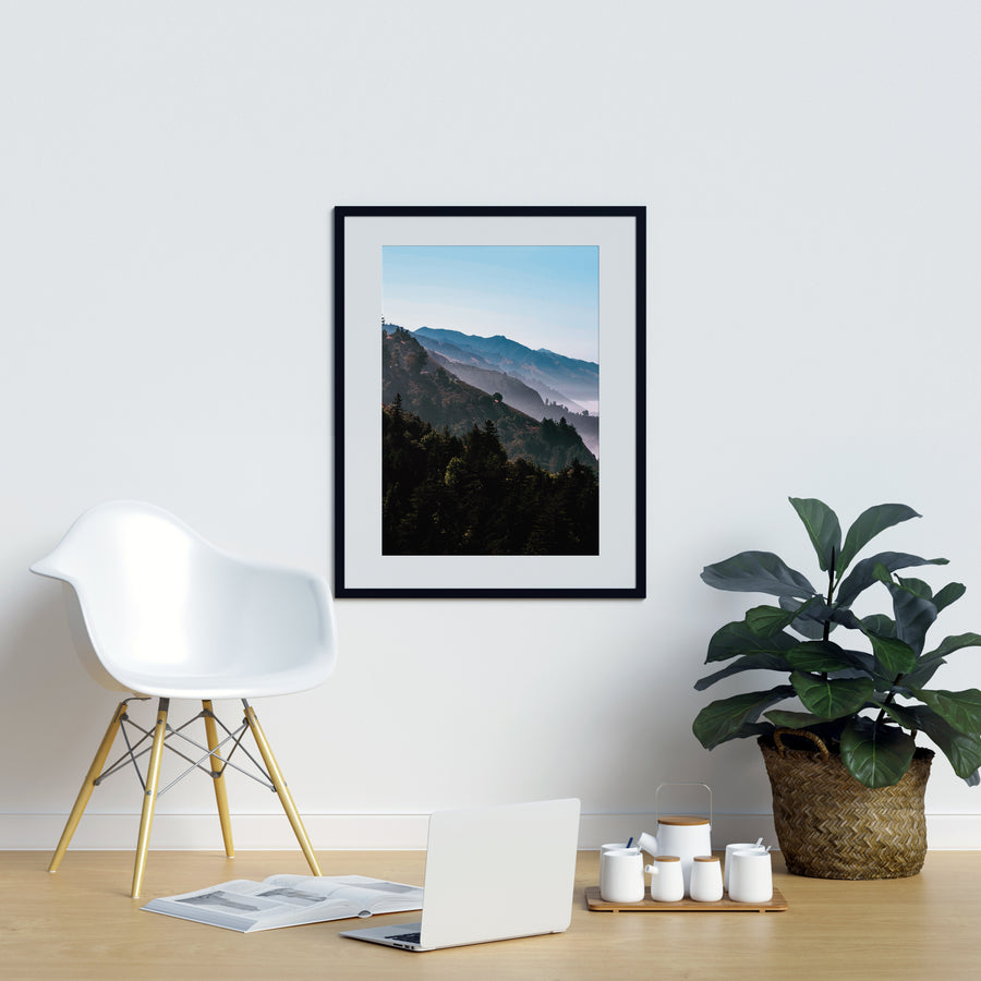 Mountain Layers Poster - Printers Mews