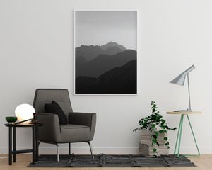 Mountain Gradient Poster - Printers Mews