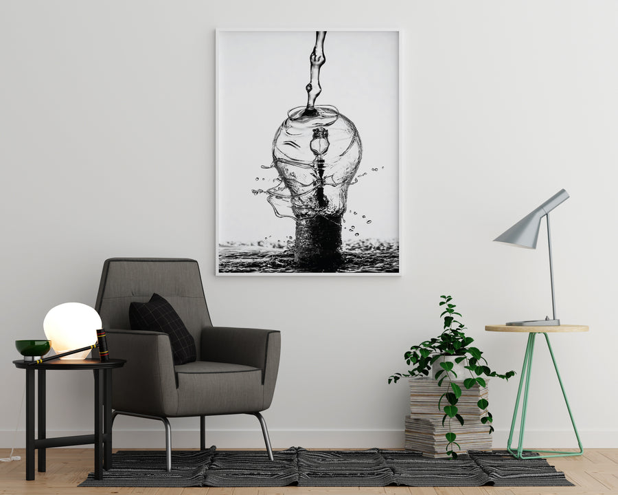 Water Lightbulb Poster - Printers Mews