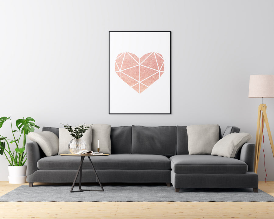 Pink Abstract Heart - Printers Mews