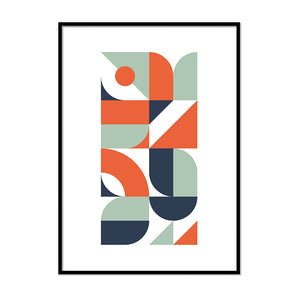 Red and Blue Irregular Shapes - Printers Mews