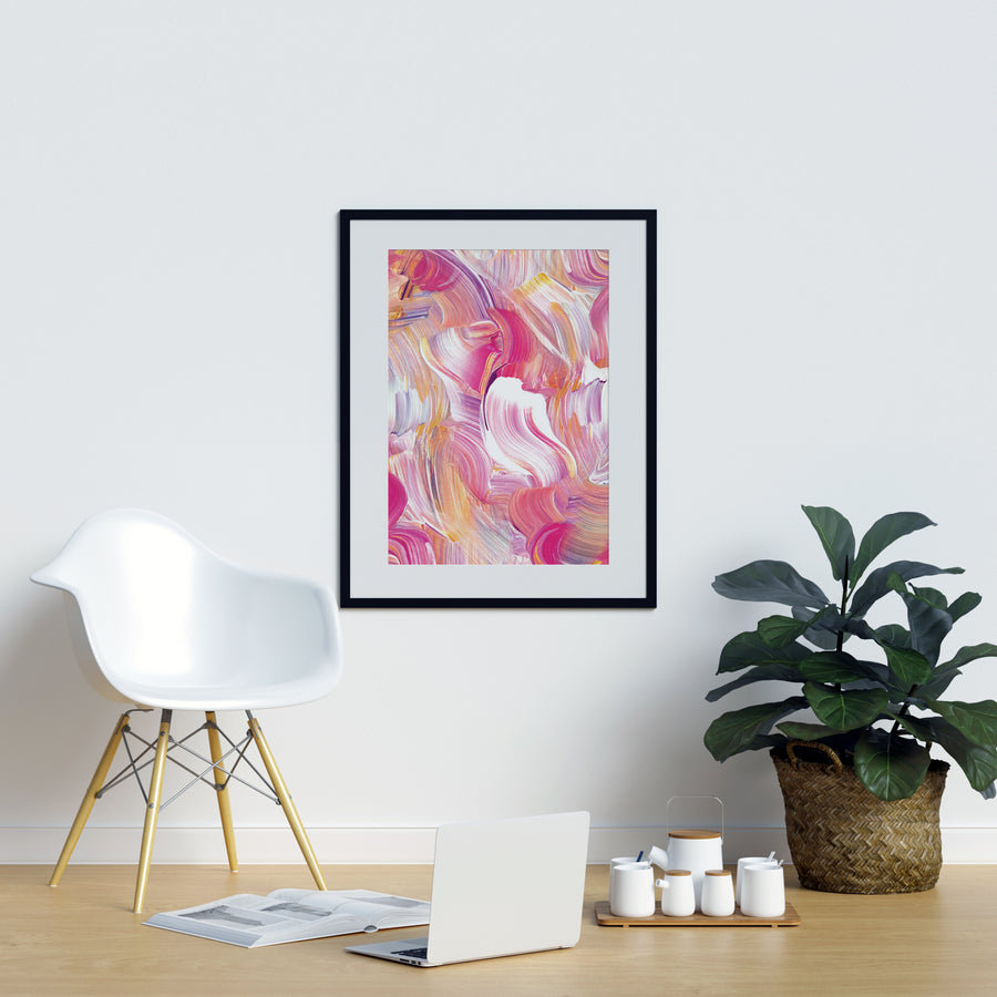 Irregular Pink Watercolor Shapes - Printers Mews