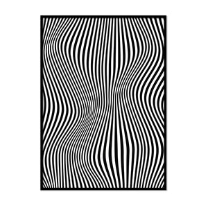 Black and White Irregular Lines - Printers Mews