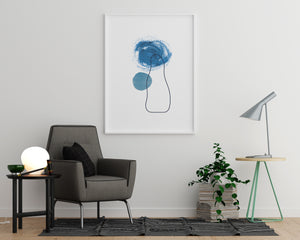 Blue Circles With Irregular Shape - Printers Mews