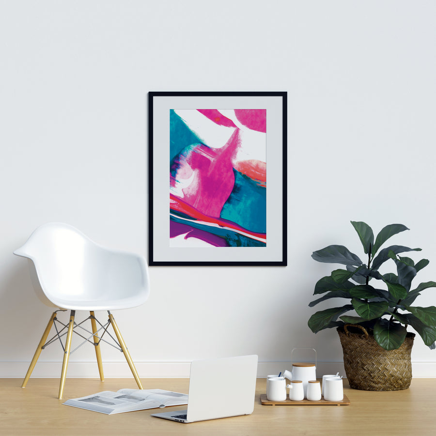 Irregular Pink and Blue Shapes - Printers Mews