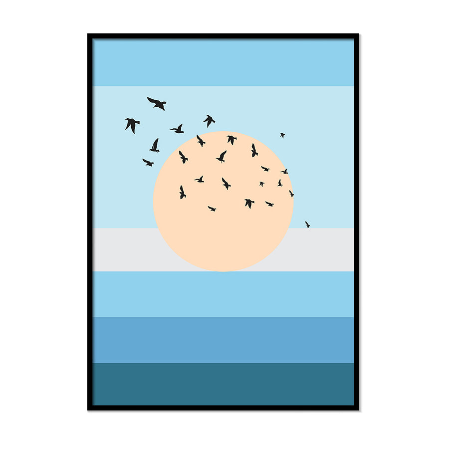 Birds Over the Sea - Printers Mews