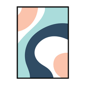 Irregular White Blue and Pink Shapes - Printers Mews
