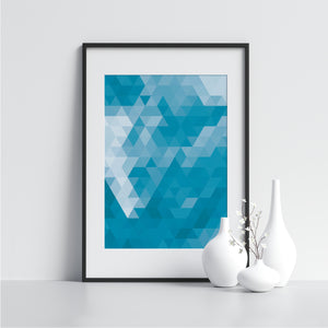Blue Triangle Pattern - Printers Mews
