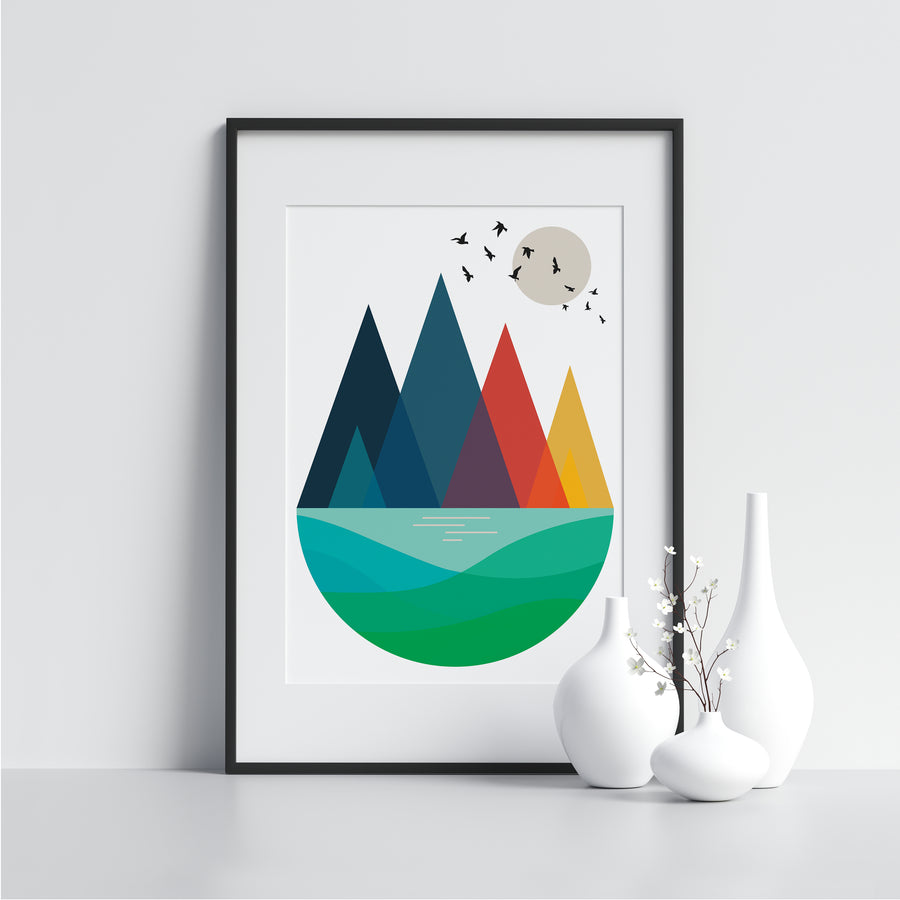 Peaks With Birds - Printers Mews