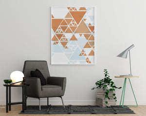 Brown and Blue Triangles - Printers Mews