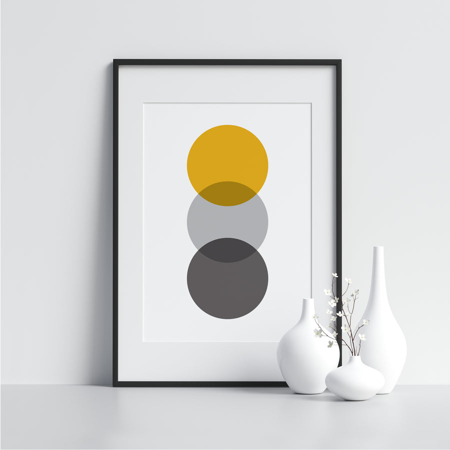 Yellow and Gray Circles - Printers Mews