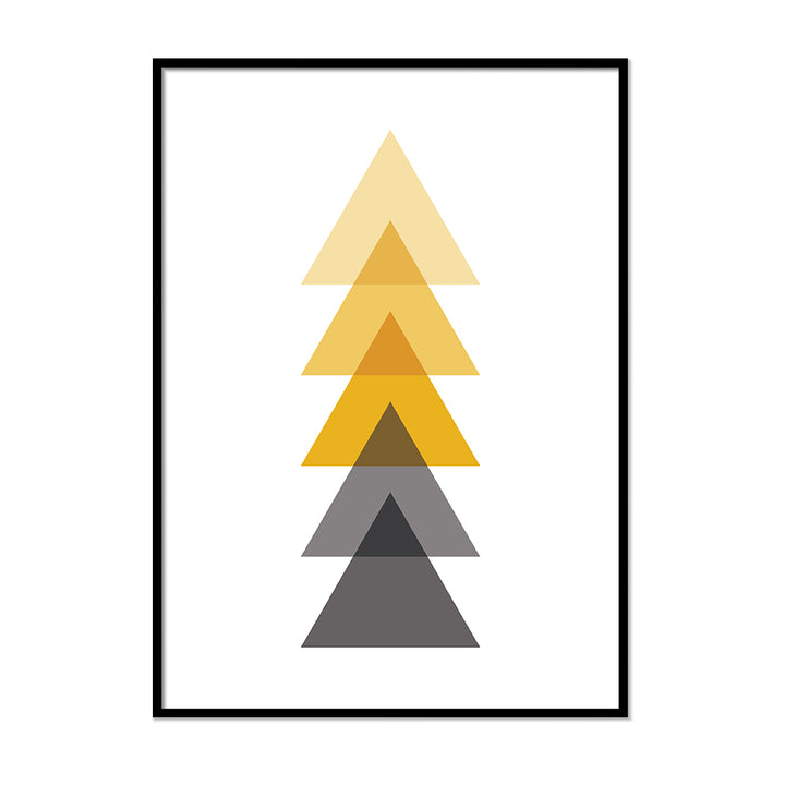 Gray and Yellow Triangles - Printers Mews