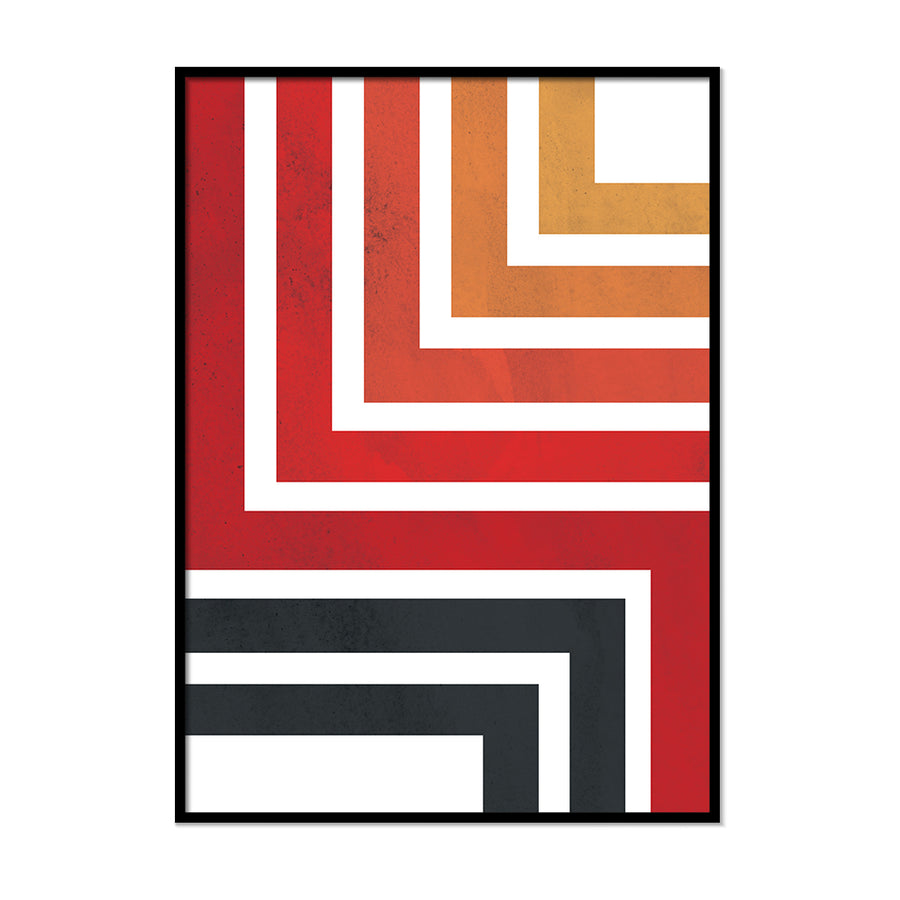Red and Black Bent Lines - Printers Mews