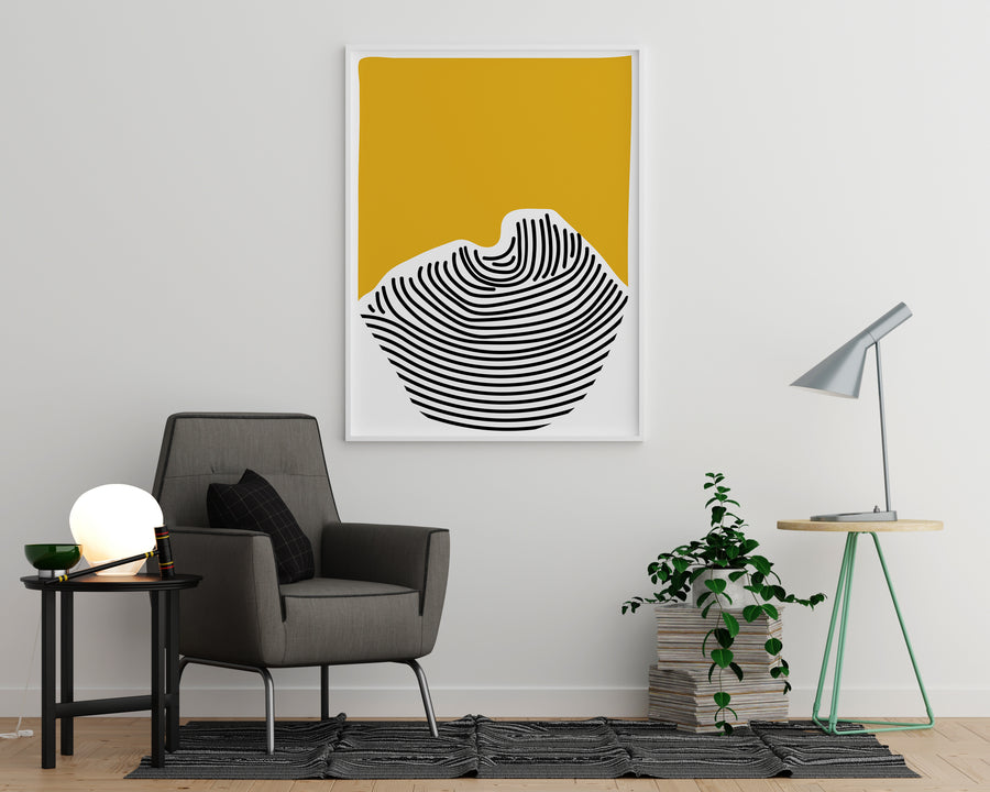 Irregular Shape With Yellow Background - Printers Mews
