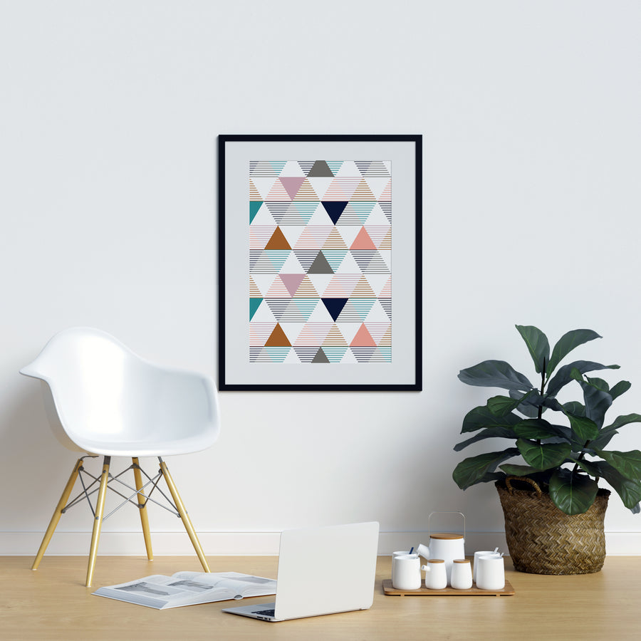 Coloured Irregular Triangles - Printers Mews