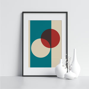 White and Red Circles - Printers Mews