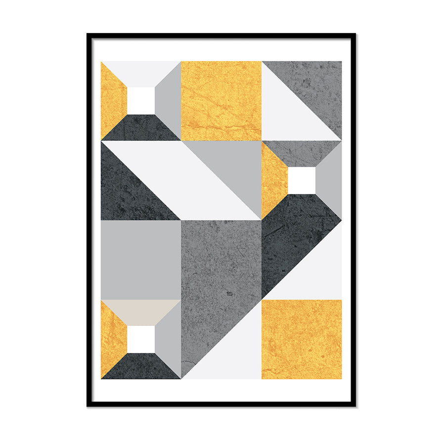 Black Gray and Yellow Shapes - Printers Mews