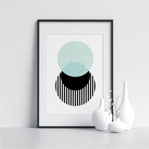 Black and Blue Circles - Printers Mews