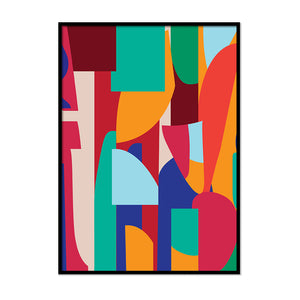 Coloured Irregular Shapes - Printers Mews