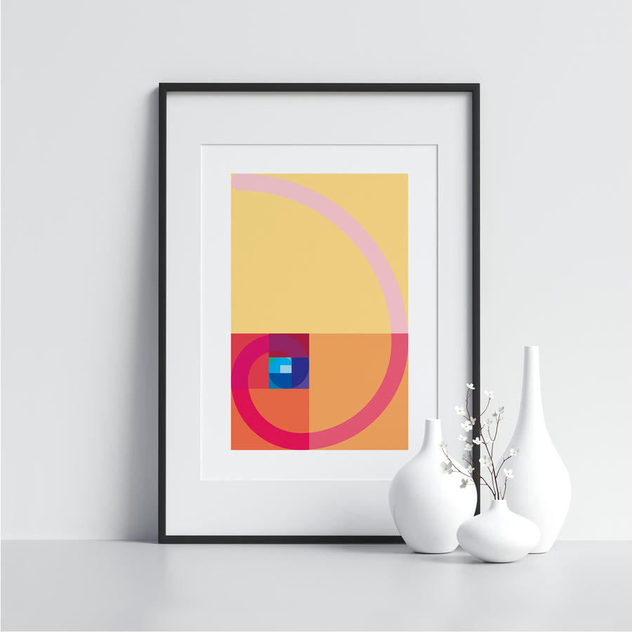 Yellow and Pink Spiral - Printers Mews