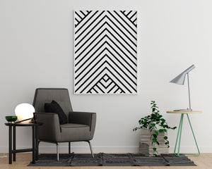 Black and White Lines - Printers Mews