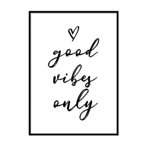 Good Vibes Only Print | Printers Mews