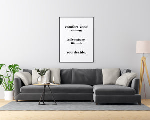 Comfort Zone Adventure You Decide - Printers Mews