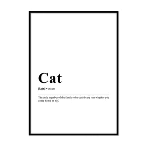 cat Definition Wall Print