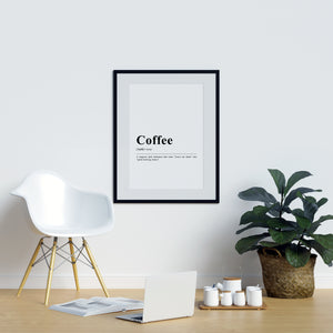 Funny Definition Print Coffee