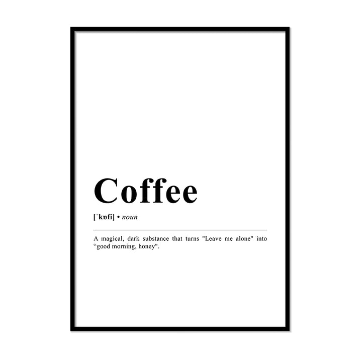 Coffee Definition Wall Print