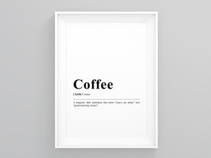 Coffee Definition Poster