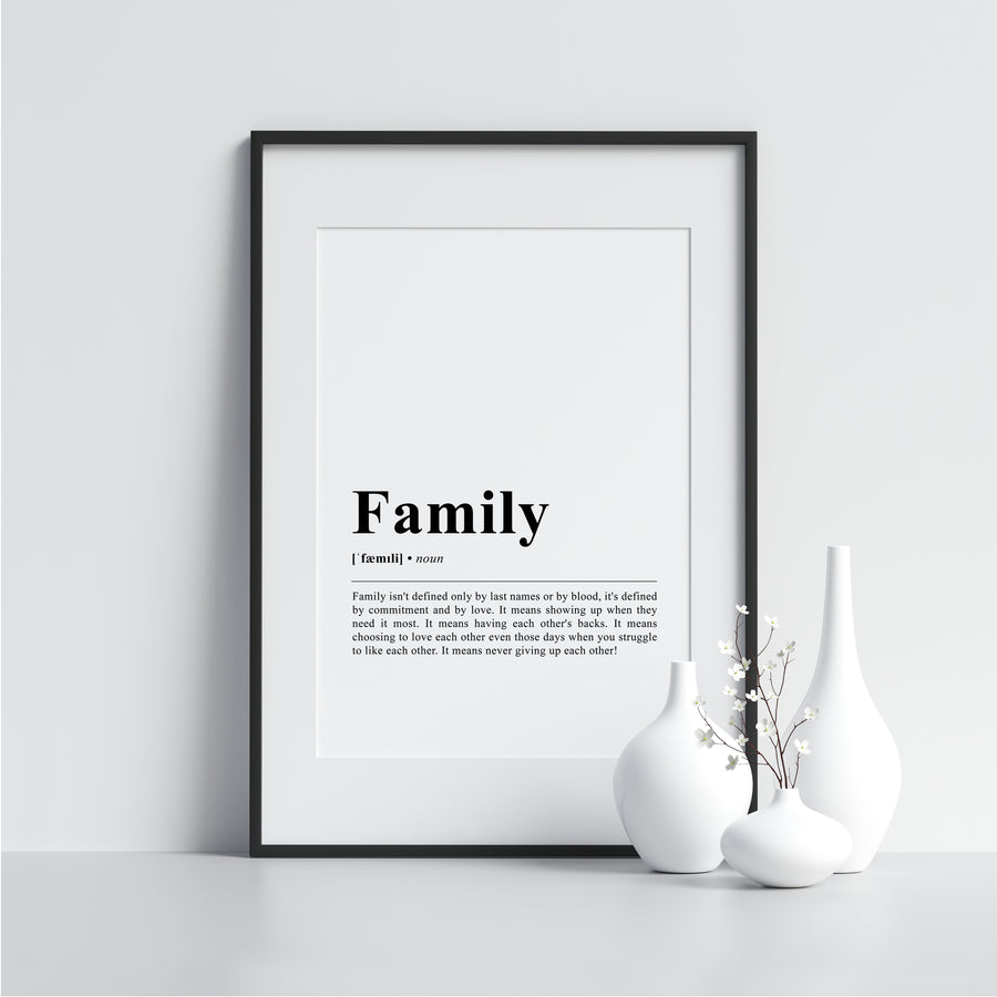 Family Funny Definition Poster