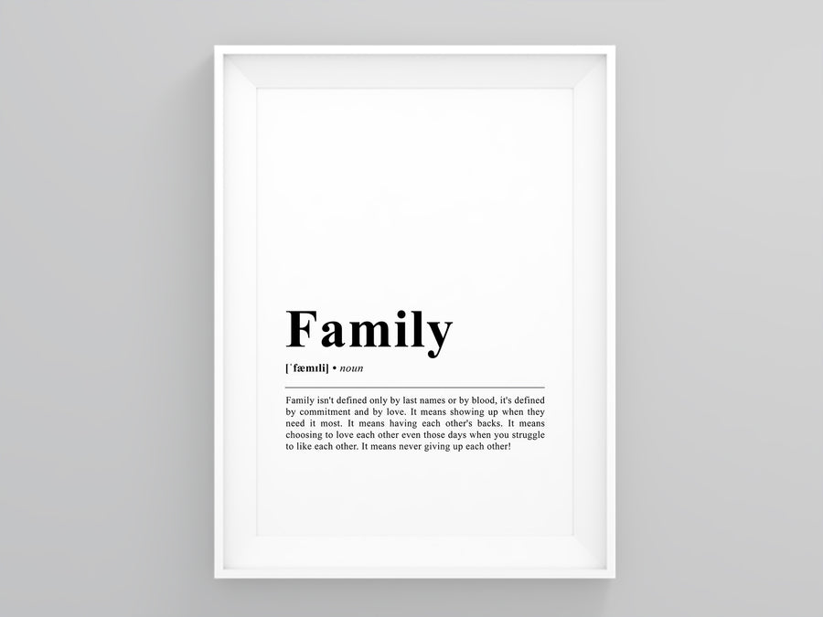 Family Definition Poster
